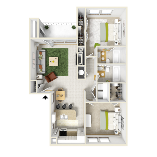 1 And 2 Bedroom Apartment Layouts